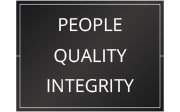 People, Quality, Integrity