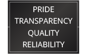 Pride, Transparency, Quality, Reliability